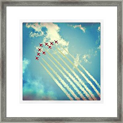 #red #arrows From The #2009 #cosford Framed Print