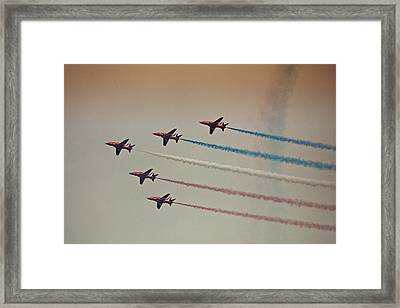 Red Arrows Framed Print by Graham Parry