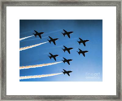 Red Arrows Framed Print by Graham Taylor