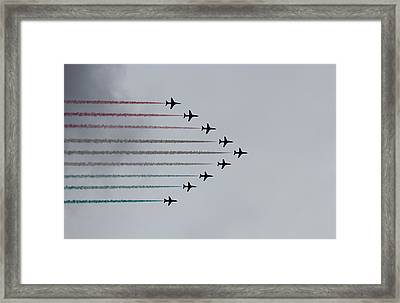 Red Arrows Horizontal Framed Print by Jasna Buncic