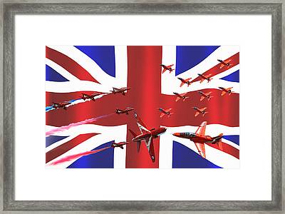 Red Arrows Union Jack Framed Print