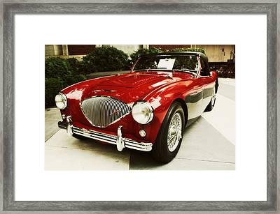 Red Austin Healy Framed Print