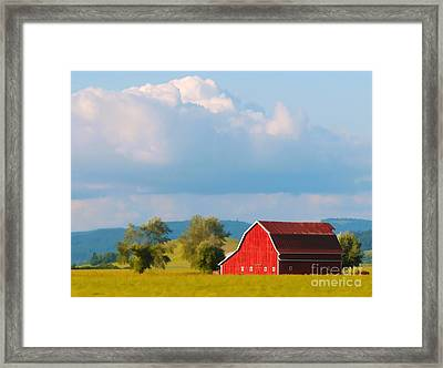 Red Barn Framed Print by Billie-Jo Miller