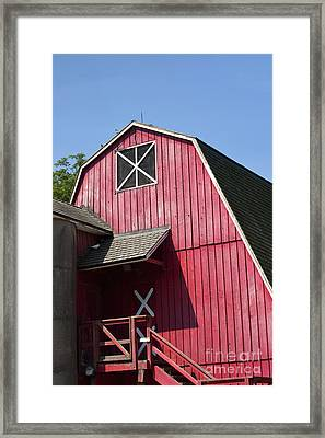 Red Barn Framed Print by Blink Images