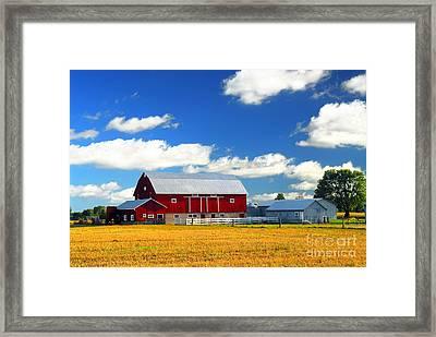Red Barn Framed Print by Elena Elisseeva
