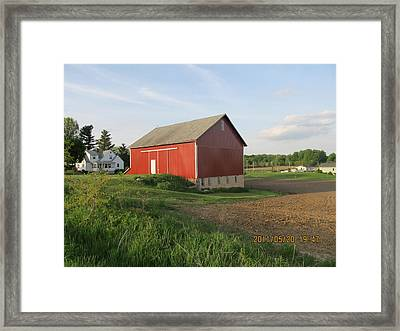 Framed Print featuring the photograph Red Barn Four by Tina M Wenger