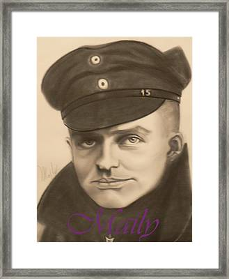 Red Baron Framed Print by Maily