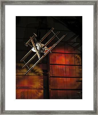 Red Baron's Revenge Framed Print by Jen Morrison