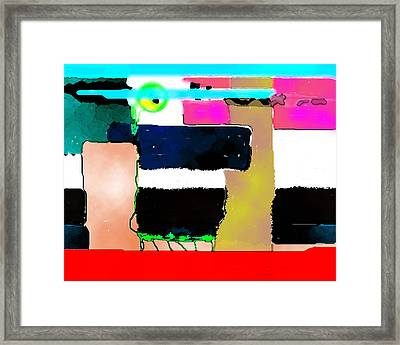 Red Base Framed Print