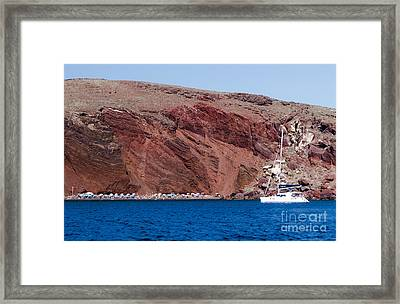 Framed Print featuring the photograph Red Beach by Leslie Leda