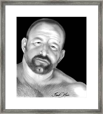 Red Bear Framed Print by Brent  Marr