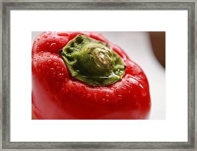 Red Bell Pepper Framed Print