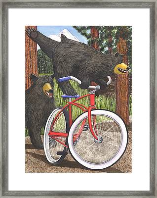 Red Bike Framed Print by Catherine G McElroy