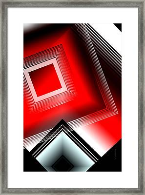 Red Black And White Framed Print by Mario Perez
