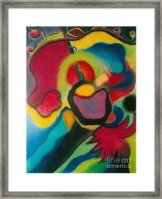 Red Blue Yellow Framed Print by Christine Perry