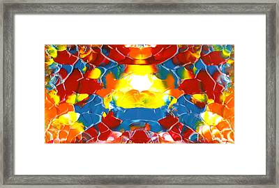 Red Blue Yellow Panels October Two K O Five Framed Print