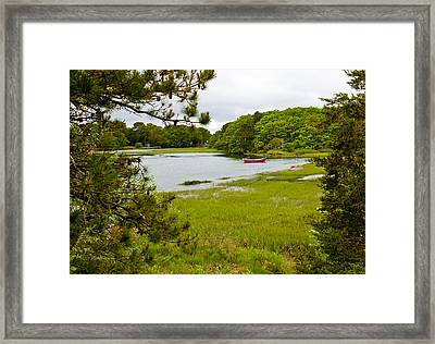 Red Boat Chatham Cape Cod Framed Print by Michelle Wiarda