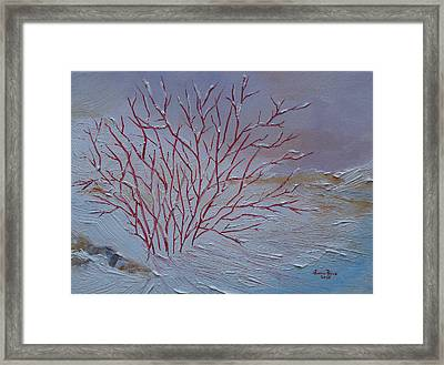 Framed Print featuring the painting Red Branches by Judith Rhue