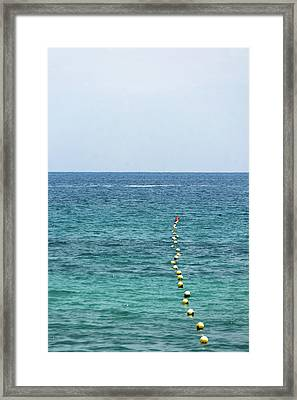 Red Buoy Framed Print by Daniel Kulinski