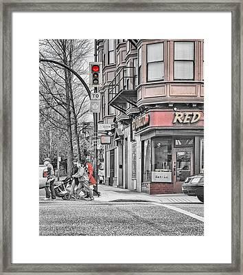 Red Burrito Framed Print