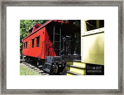 Red Caboose Framed Print by Thomas R Fletcher