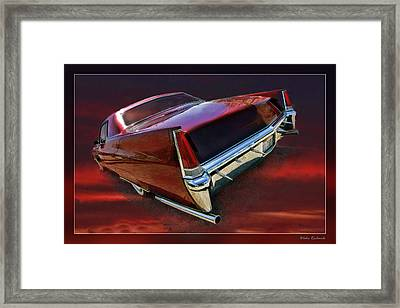 Red Cadillac Framed Print by Blake Richards