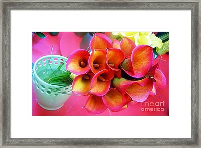 Red Calla Lilies Framed Print