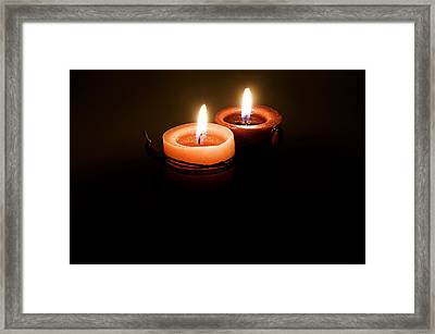 Red Candles Framed Print