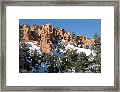 Red Canyon Framed Print by Bob and Nancy Kendrick