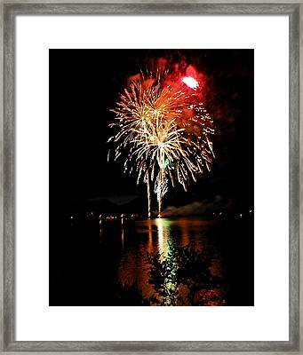 Red Capped Fireball Framed Print by Don Mann
