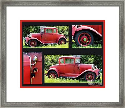Red Car Framed Print by Lorraine Louwerse