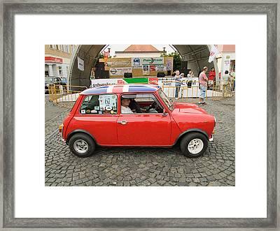 Red Car Framed Print by Odon Czintos