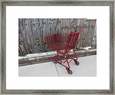 Red Cart 2 Framed Print by Todd Sherlock