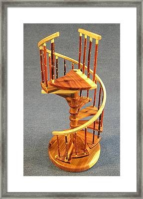 Red Cedar Rustic Spiral Stairs Framed Print by Don Lorenzen