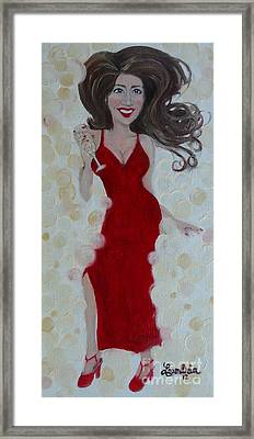 Red Champagne Framed Print