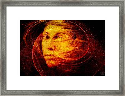 Red Chaos Framed Print