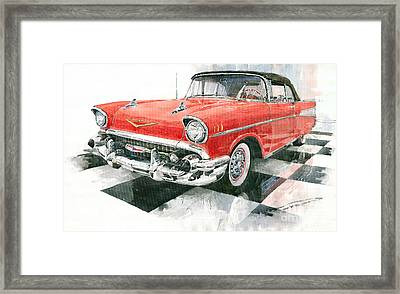 Red Chevrolet 1957 Framed Print