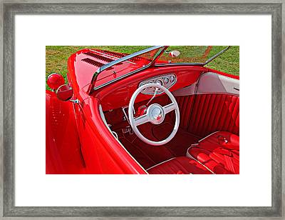 Red Classic Car Framed Print by Garry Gay