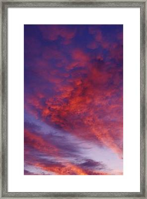 Red Clouds Framed Print by Garry Gay