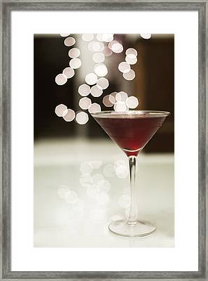 Red Cocktail Framed Print by Eliza Claire Photography