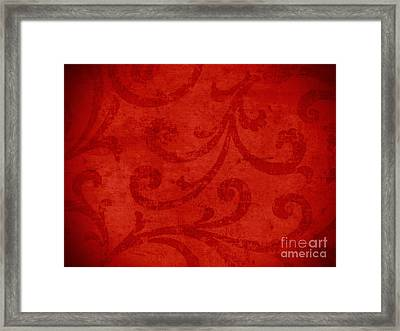 Red Crispy Oriental Style Decor For Fine Design. Framed Print by Marta Mirecka