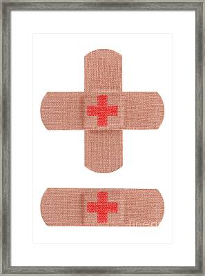 Red Cross Bandages Framed Print by Blink Images