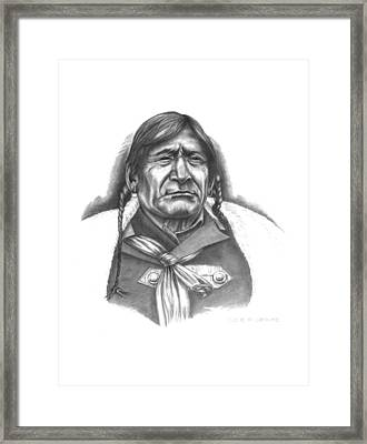 Red Crow Framed Print by Lee Updike