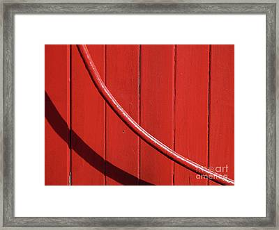 Framed Print featuring the photograph Red Curve by Newel Hunter
