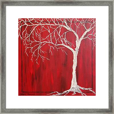 Framed Print featuring the painting Red Dawn by Christie Minalga