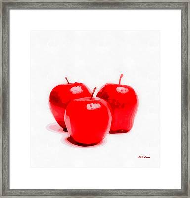 Red Delicious Apples Framed Print by Elizabeth Coats