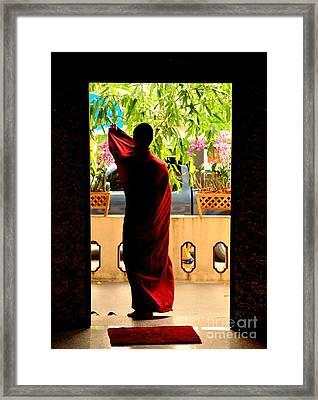 Red Divine Framed Print by Dean Harte