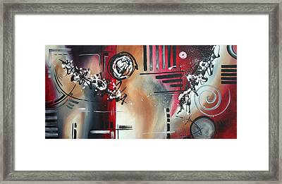Red Divinity By Madart Framed Print by Megan Duncanson