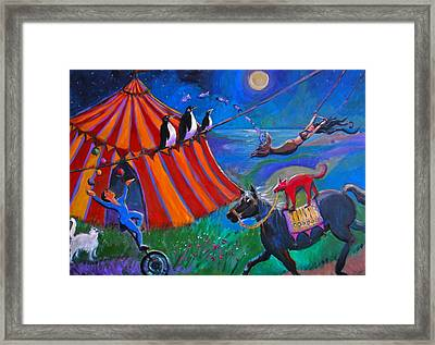 Red Dog Circus Framed Print