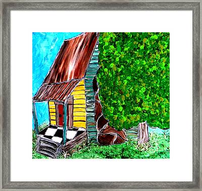 Red Door Framed Print by Amy Carruth-Drum